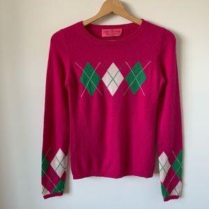 • Juicy Couture Argyle Cashmere Sweater •